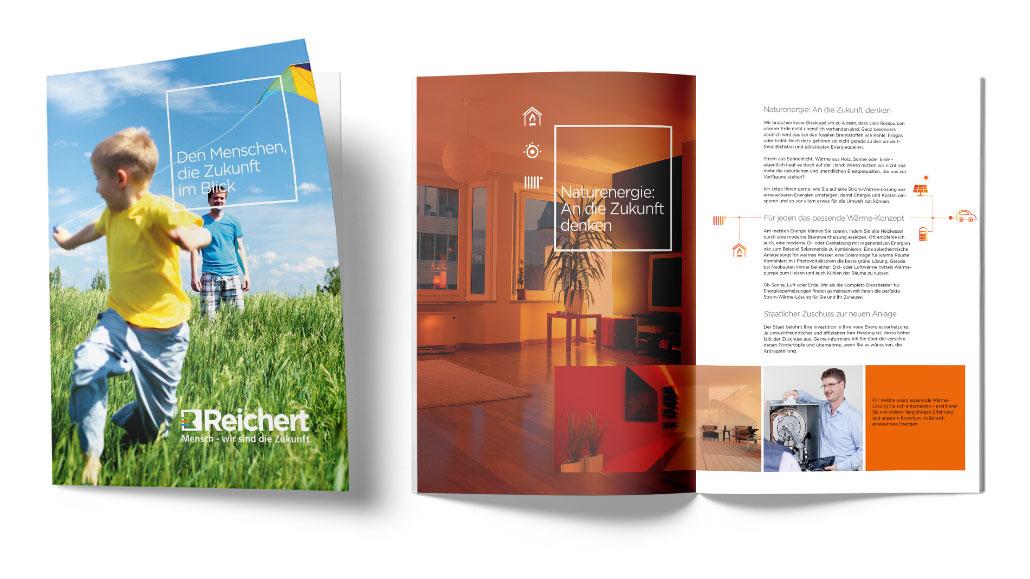 Das Bild zeigt eine Broschüre, die die Kunden kostenlos herunterladen können.